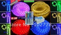 Wholesale 2012 freeshipping RGB M LED Flex SMD led Strip key IR Remote ControlLer V DC with charger M