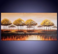 africa work - hand painted Canvas Wall Art Acrylic Abstract Africa Landscape Tree Oil Painting Home Decoration Modern Tree Art work