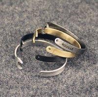 antique wrench - 1000PCS HHA562 Vintage Stainless Steel Spanner Bracelet Men Antique Silver Gold Plated Wrench Bracelets Bangles motorcycle bracelet