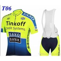Cheap 2015 ITEMS Tinkoff saxo bank cycling jerseys tour de france Bike Wear Green Fluo pro cycling jersey short sleeves+bib shorts size XS-4XLT6