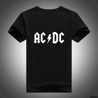 acdc guitars - Men Fashion Design Rock Band ACDC Guitar T Shirts Short Sleeve O Neck Tshirts Casual Quality T shirts Blouses