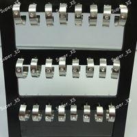 Wholesale 24Pcs Set Top Stainless Steel Rhinestone Stud Earrings For Women Jewelry Bulk Packs LR375