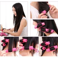 Wholesale Hot Sales as a set Magic Foam Rollers Sponge Hair Styling Soft Curler Curlers Twist DIY Tool T205