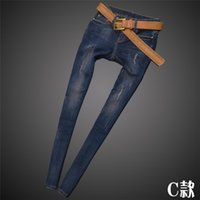 Wholesale 2015 New Style Women s Jeans Fashion Jeans Sell Like HOT Cakes Hole Womens Jeans Slim Jeans Charm The