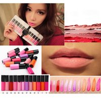 mini lip gloss - Trendiest Multi Color Mini Moist Lip Gloss Waterproof Long Lasting Matte Liquid Lipstick