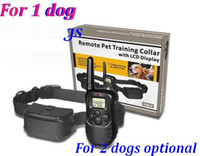 Wholesale 100set m dog remote pet training collar LCD dispaly lv of Vibration remote Static Shock Anti Bark For dog dog