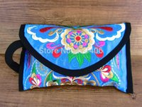 hippie bags - Wristlet bag vintage Hmong Thai Indian embroidered bag Fashionable clutch purse Boho Hippie Ethnic cosmetic bag SYS