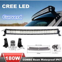 Wholesale 31 inch W Curved CREE LED light bars Spot Flood Combo Light Car LED Working Light for Offroad Truck SUV Tractor WD Boat