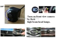 badge systems - Waterproof volvo V40 cross country badge logo car auto vehicle front view camera camara kamera with smart switch system M37181 camera robot