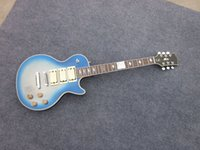 ace beautiful - ebony fretboard mahogony body blue color with binding ace frehley electric guitar very beautiful