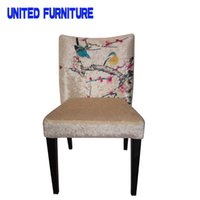 Wholesale wedding banquet party elegant chair Chinese Brush Painting fabric hotel chair colors option