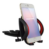 adjustable support arm - CD Car Mount Holder with Two Support Arm Thick Adjustable Width Phone Stand Fashion Degree Pivot Car Cradle S003