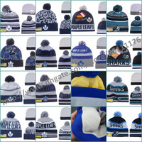 Wholesale NHL Sports Leafs Toronto San Jose Sharks Beanie hat Ice Hockey Beanies Hats For Men Women pom Knit Hat Top Quality Retail Wholesales