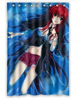 Wholesale Anime Lias Gimonty bath curtain personalized High School DxD Custom Shower Curtain quot x quot with plastic Hooks H19