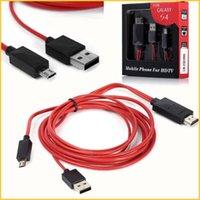 2M los 6ft 11pin universal Mirco USB MHL a HDMI Cable Cable adaptador Línea HD 1080P para Samsung Galaxy S4 S3 I9300 N7100 Nota 2 Nota 3