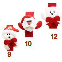 Wholesale Christmas Gift Luminous Papa Bracelet Xmas Santa Claus Snowman Toys SlapPat Circle Bracelet Wristhand Christmas Party Decoration