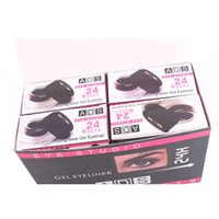 boxing wear - ADS eye studio long wear gel eyeliner two color long lasting hours with expert eyeliner brush two color pack into one box A8422