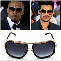 Wholesale 2015 Dita sunglasses Mach One K Gold plating Unisex Model Brand Design Mirror Lens High Quality Acetate With Free Original Case