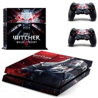 Wholesale New The Witcher Wild Hunt PS4 Skin Sticker For Sony Playstation PS4 Console protection film and Cover Decals Of Controller