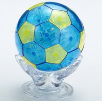 Wholesale 3D Crystal Puzzle World Cup Soccer Football Miniature DIY Assembly Model Toy