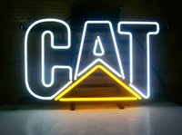 Blue beer cat - CAT logo Classic Neon Sign handicraft Real Glass Tube store display beer bar pub light x14 quot