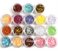 acrylic nail tools accessories - 18 Colors D Stars Nail Art Glitter Sequins Acrylic Nail Tips Decoration Accessories Design Tools Hot Sale DHL