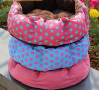 Wholesale 2015 colorful dot Pretty Soft Dog Cat Bed House Cozy Warm Pet Nest Removable Washable