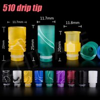 Wholesale E cigarette Muffler Wide Bore Drip Tip With Acrylic plastic Huge Hole Fit EGO Atomizers Mechanical Colors driptip Clearomizer Mouthpiece
