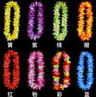 Graduation Floor Mounted Hybrid wedding Party concerts decoration hawaiian Flowers necklace wreaths Grass skirts accessories necklace artifical flowers drop shipping