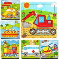 animal transport vehicles - Baby Kids Child Wooden Transport Cars Vehicles intelligence Puzzle Toys Games