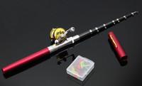 Wholesale 1 m Hot FRP Material Pocket Pen Fishing Rod Fishing Pole ice fishing rod ST6RL Bait Casting Pesca Fishing Gear