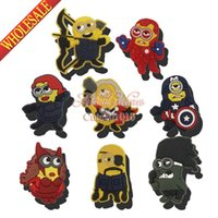 b ornament - Hot MOQ Despicable Me Avengers Minions PVC Shoe Charms Cute Shoe Accessories Cartoon Shoe Buckle Ornaments fit Bracelets Bands Gifts