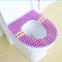 Cheap Bathroom Products Warm Toilet Seat Cover Bathroom Mat Sets WC Toilet Accessories Set Household Items