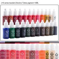 tattoo ink sets - Fashion Permanent Eyebrow Lip Eyelash Makeup Pigment Colors OZ Tattoo Ink Set Micro Pigment Cosmetic Color Tattoo Supplies ML Piece