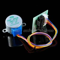 Wholesale 5pcs Gear Stepper Motor BYJ DC V ULN2003 Driver Test Module Board For Arduino Drop Shipping