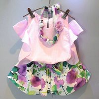 Cheap Unisex Outfit Set Best Spring/Autumn 80 90 100 110 120 130 girls suits
