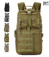 Wholesale Outdoor Military Tactical Assault Camo Soldier Backpack Molle System Day Life Saver Bug Out Bag Survival SWAT Police Free DHL Fedex