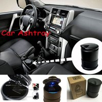ash car sales - New portable Auto Car Truck LED Cigarette Smoke Ashtray Ash Cylinder Cup Holder hot sale Quality DHL