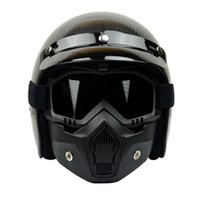 Wholesale Hot Sales BEON Modular Mask Detachable Goggles And Mouth Filter Perfect for Open Face Motorcycle Half Helmet or Vintage Helmets