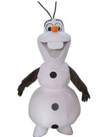 Wholesale Hot sale fast shipping Frozen Olaf Snowman Mascot Costume for Adult Winter Dress