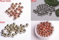 Wholesale mm Gold Silver Rose Gold Round CCB Plastic Spacer Bead For Bracelet U Pick