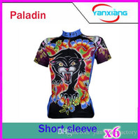 Wholesale Newest Outdoor PALADIN Short Sleeve Women s Sports Wear Cycling Leopard Style Jersey Size S XL