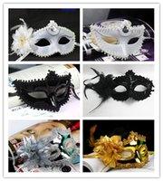 Wholesale MIx sale Venetian Masquerad Masks Lady mask for masquerade ball mask side feather flower masks