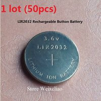Wholesale LIR2032 V rechargeable button cell battery replace CR2032 button cell battery