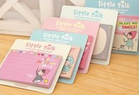 Wholesale 20 off The new South Korean stationery cute Little Red Riding Hood cookie girl N times stickers sticky notes book notebook Office Schoo