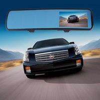 Wholesale 4 quot P M Pixels Car Rear View Mirror Camera DVR Dual Lens Cam G Sensor