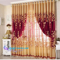 Wholesale crystal curtain High Quality Cutout Carved Embroidered yellow tulle Curtain Window Curtain for Living Room bedroom curtains