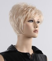 Wholesale Fashion Style Hair Wigs Short Synthetic Wig for Women Blonde Color Curly Wig Kanekalon