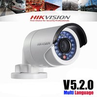 Wholesale 100 Original Hikvision DS CD2032 I P Megapixel IR bullet network Camera POE IP camera mm