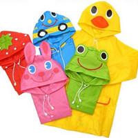 Wholesale Cute Baby Funny Raincoat Children Cartoon Rain Coat Kids Rainwear Waterproof